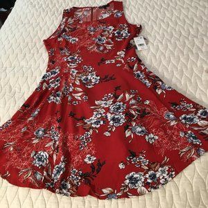BeBop Dresses - Bebop Red Floral Dress